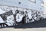 """Fresque """"L'arbre à palabres"""" (2015) sur les murs de la Maison des langues et de l'international"""